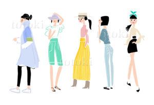 色んなファッション女性