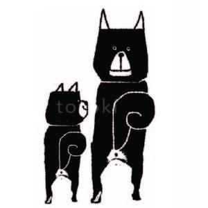 お尻の穴が見えている柴犬のイラスト