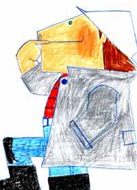 色鉛筆の手描きイラスト