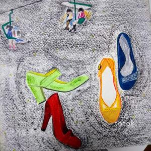 ファッションアイテムの手描きイラスト