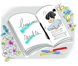 受注リストを書いた本のイラスト